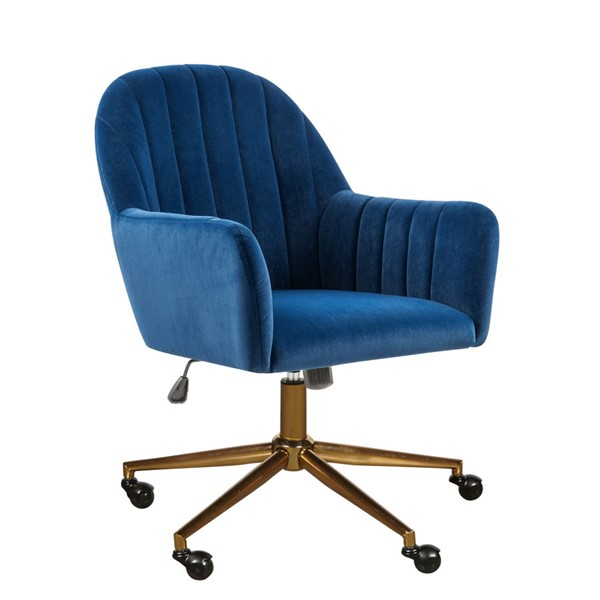 Home Meridian Channeled Blue Office Chair RH-DS-D274-705-2