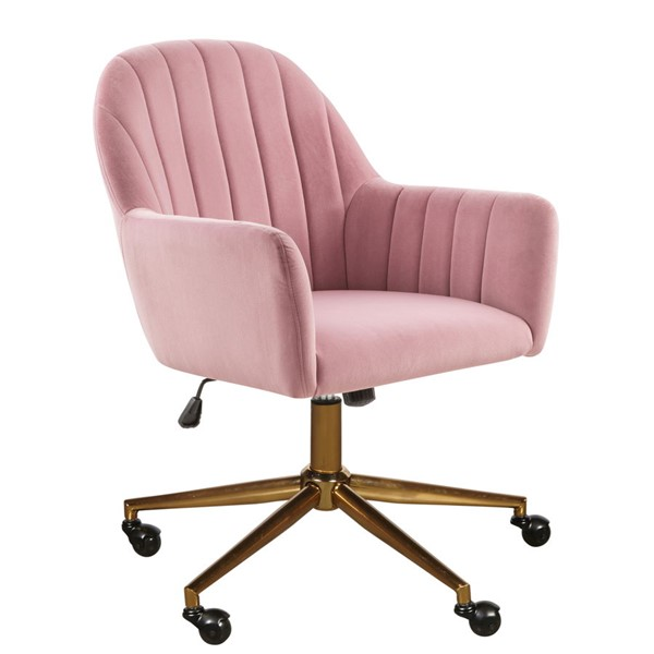 Home Meridian Channeled Pink Office Chair RH-DS-D274-705-3