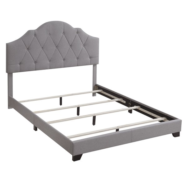 Home Meridian Smoke Grey Camelback King Upholstered Bed RH-DS-D282-291-116
