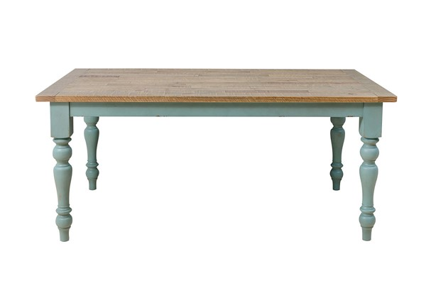 Home Meridian Farmhouse Cloudy Blue Dining Table RH-DS-D304-130