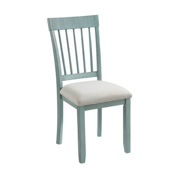 2 Home Meridian Farmhouse Cloudy Blue Dining Chairs RH-DS-D304-140