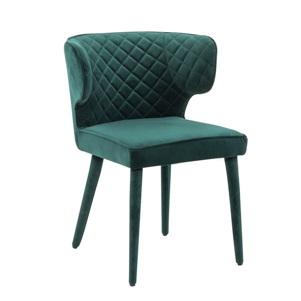Home Meridian Emerald Green Quilted Dining Chair RH-DS-D313-706-1