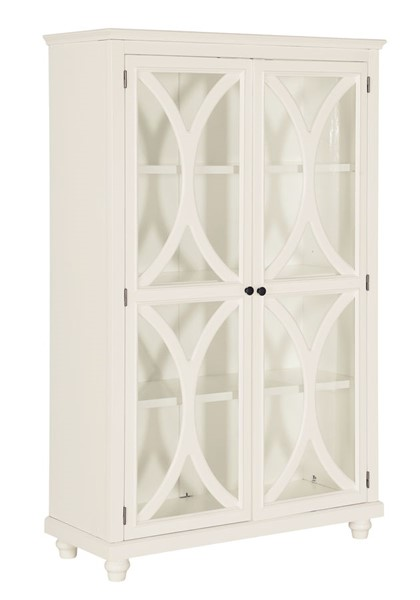 Home Meridian White 3 Shelf Bookcase Display Cabinet RH-DS-D318-300-K1
