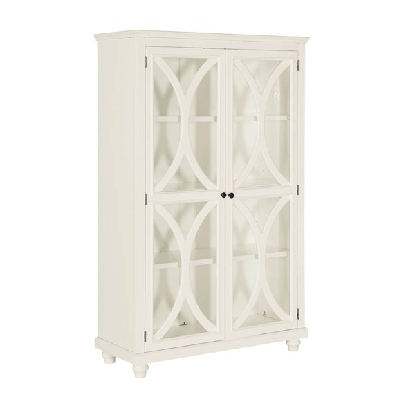 Home Meridian White Bookcase Display Cabinet RH-DS-D318-300-BC