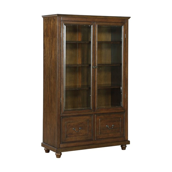 Home Meridian Brown Display Cabinet Bookcase RH-DS-D318-301-BC