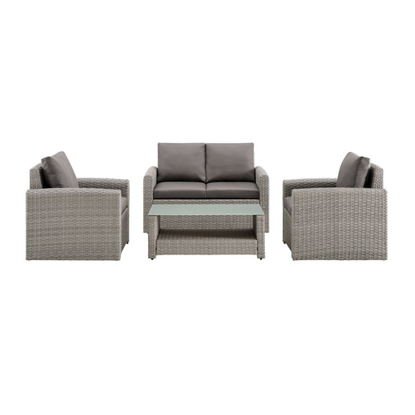 Home Meridian Cygnet Grey 4pc Outdoor Seating Set RH-DS-D319-K1