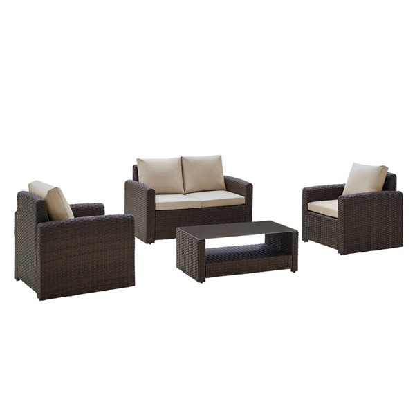 Home Meridian Brown 4pc Outdoor Seating Set RH-DS-D319-K2