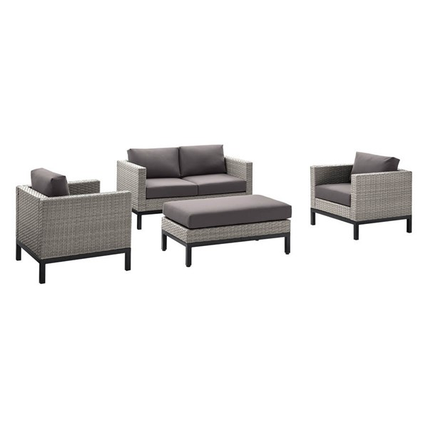 Home Meridian Grey 4pc Outdoor Seating Set RH-DS-D323-K1