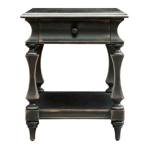 Home Meridian Gray Post End Table RH-DS-D327-213