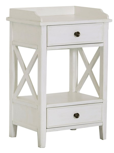 Home Meridian White Two Drawer End Table RH-DS-D328-210