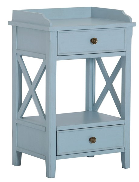 Home Meridian Blue Two Drawer End Table RH-DS-D328-211