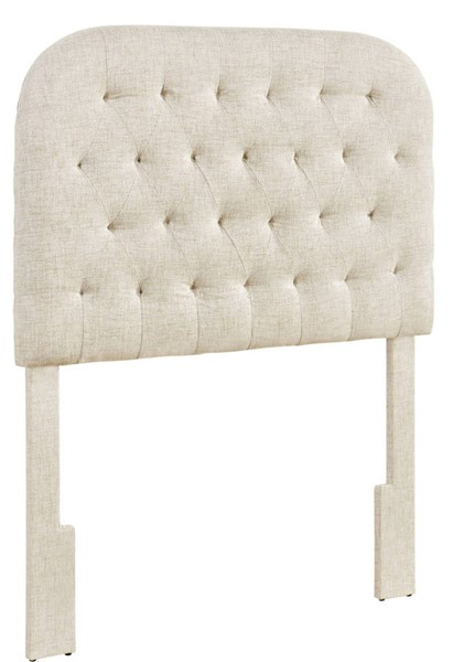 Home Meridian Doe Round Tufted Twin Headboard RH-DS-D363-230-1