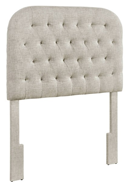 Home Meridian Linen Round Tufted Twin Headboard RH-DS-D363-230-2
