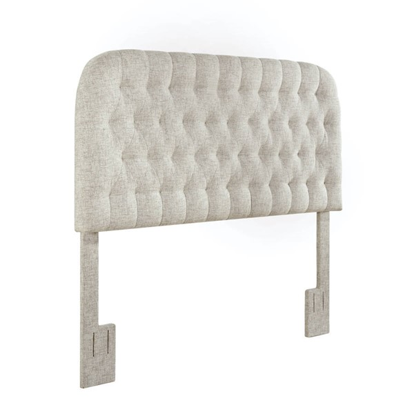 Home Meridian Linen Round Tufted King Cal King Headboard RH-DS-D363-270-2