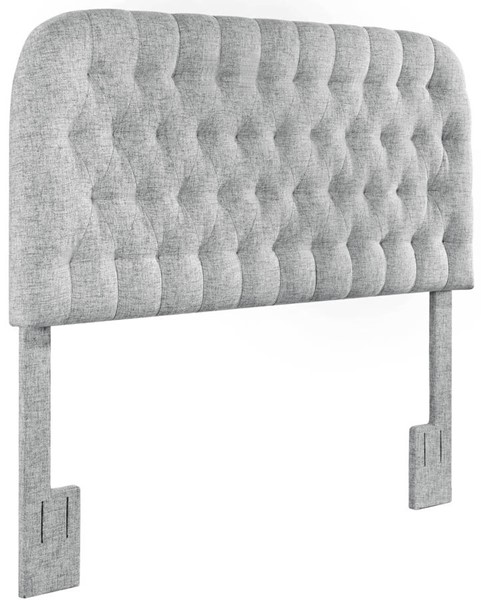 Home Meridian Platinum Round Tufted Full Queen Headboard RH-DS-D363-250-3