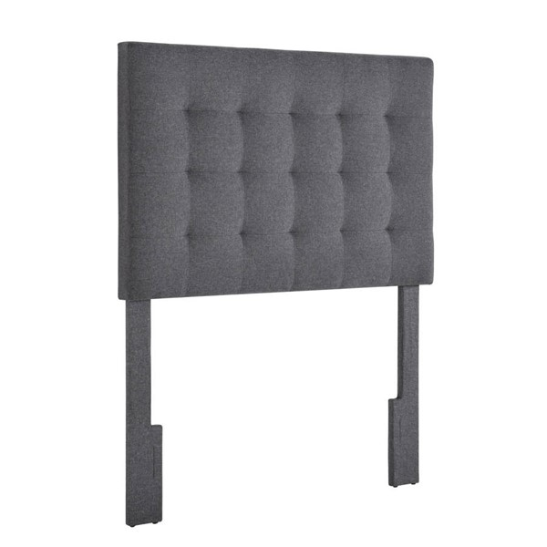 Home Meridian Charcoal Mid Mod Tufted Twin Headboard RH-DS-D364-230-2