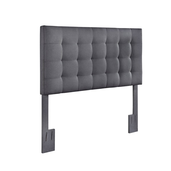Home Meridian Charcoal Mid Mod Tufted King Cal King Headboard RH-DS-D364-270-2