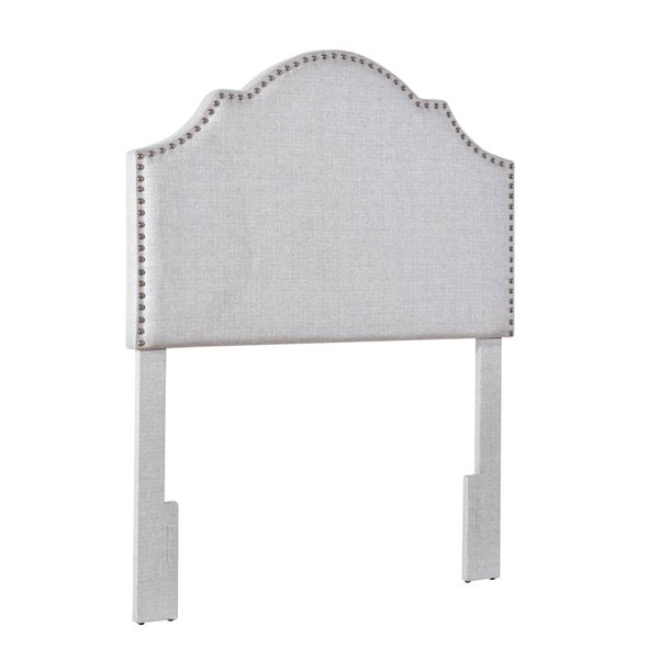 Home Meridian Light Gray Nail Trim Twin Headboard RH-DS-D365-230-2