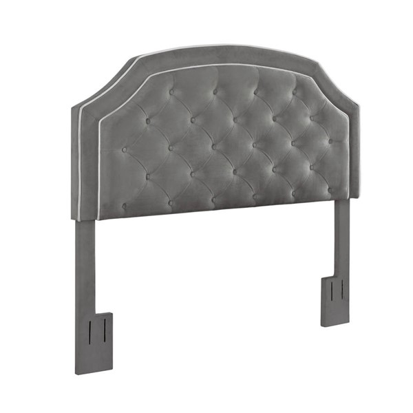 Home Meridian Charcoal Welt Trim King Cal King Headboard RH-DS-D366-270-2