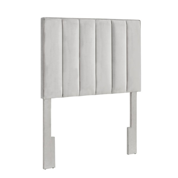 Home Meridian Light Gray Velvet Twin Headboard RH-DS-D367-230-1
