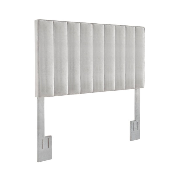 Home Meridian Light Gray Velvet Full Queen Headboard RH-DS-D367-250-1