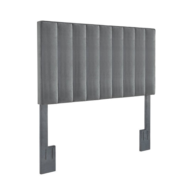 Home Meridian Charcoal Velvet Full Queen Headboard RH-DS-D367-250-2