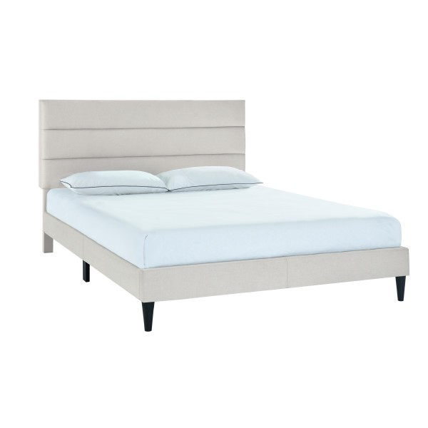 Home Meridian Gray Smoke Horizontal Channeled Queen Platform Bed RH-DS-D393-292