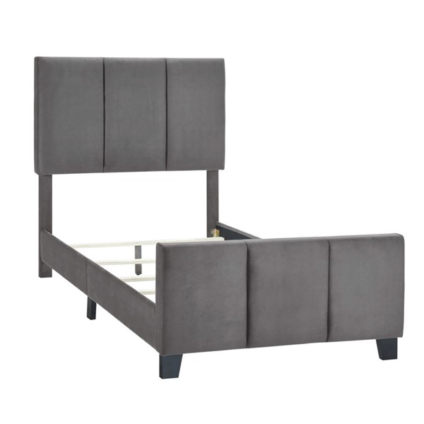 Home Meridian Gray Twin Channel Bed RH-DS-D400-288-2