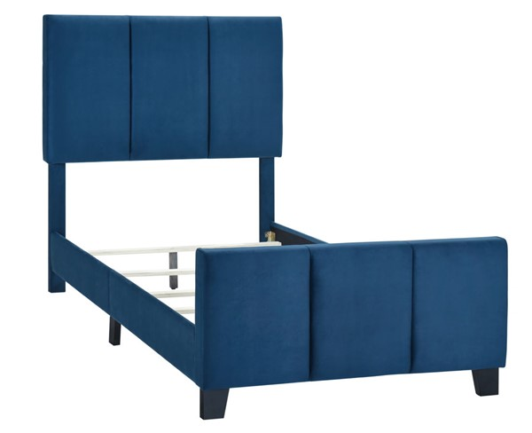 Home Meridian Blue Twin Modern Channel Bed RH-DS-D400-288-3