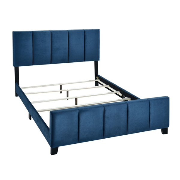 Home Meridian Blue Queen Channel Bed RH-DS-D400-290-3