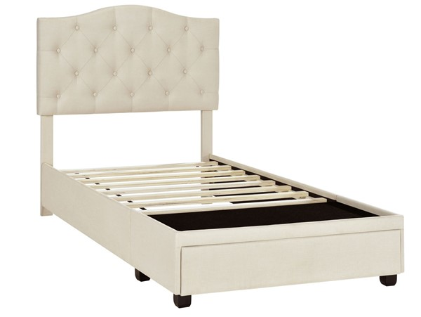 Home Meridian Cream Twin Tufted Storage Bed RH-DS-D401-284-1