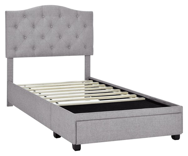 Home Meridian Gray Twin Tufted Storage Bed RH-DS-D401-284-2