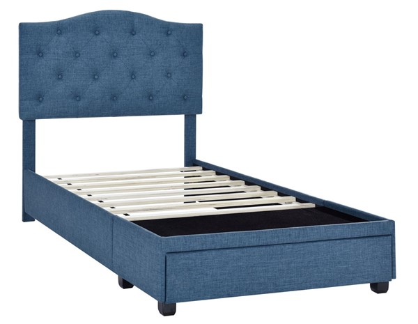 Home Meridian Blue Twin Tufted Storage Bed RH-DS-D401-284-3
