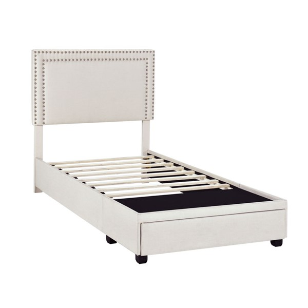 Home Meridian Fog Grey Twin Nail Trim Storage Bed RH-DS-D402-284-1
