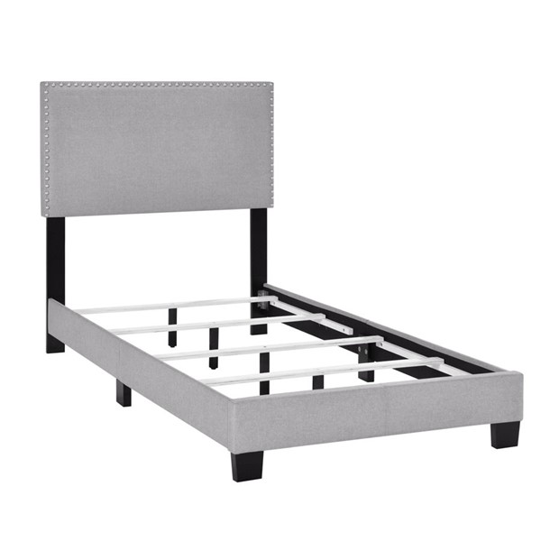 Home Meridian Glacier Gray Twin Nail Trim Bed RH-DS-D424-288-3