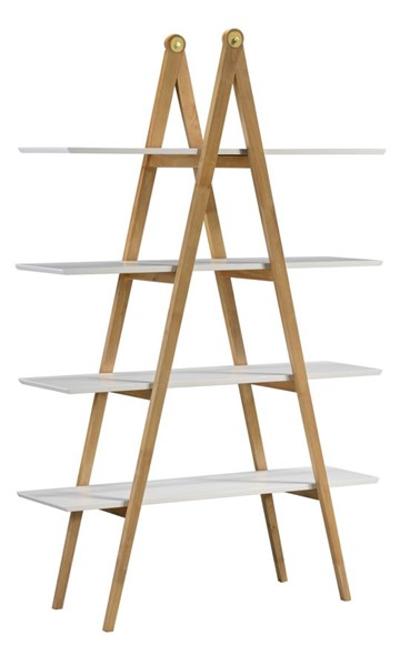 Home Meridian White A Frame Bookcase RH-DS-D438-300-2