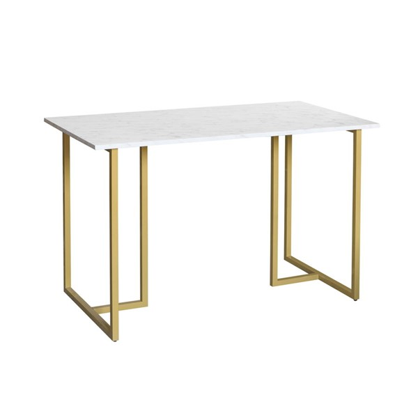 Home Meridian Gold Desk With Marble Top RH-DS-D438-800