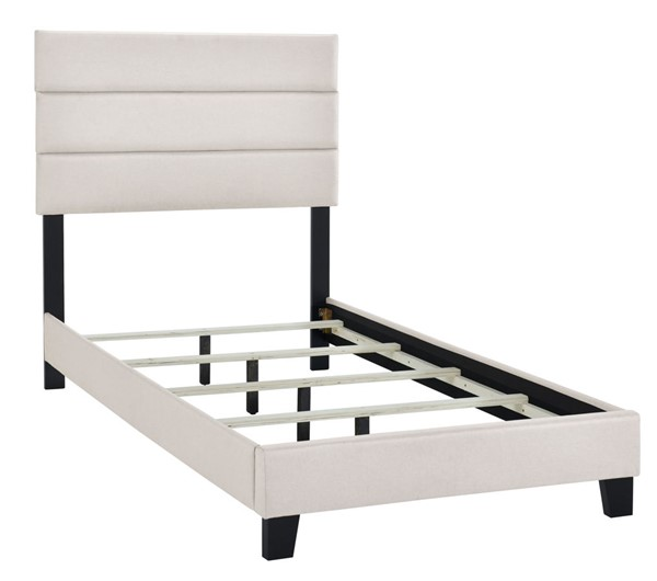 Home Meridian Fog Cream Twin Slat Bed RH-DS-D443-288-1