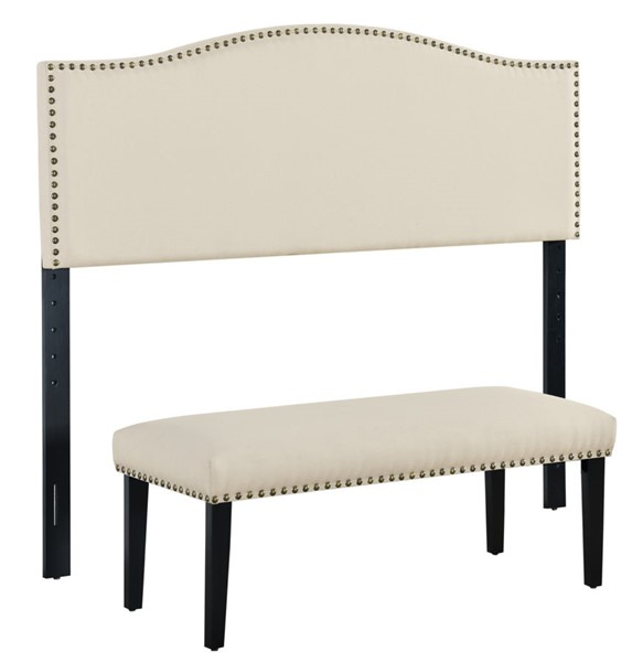 Home Meridian Cream Headboard With Bench RH-DS-D447-650-1