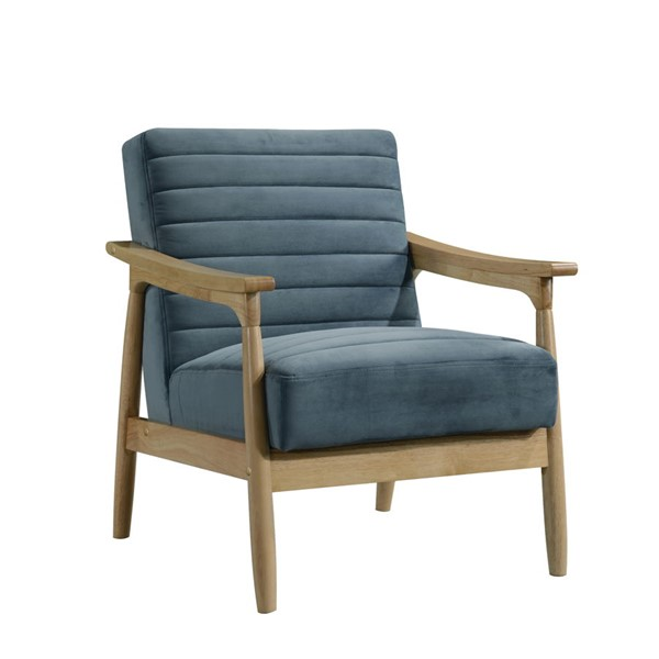 Home Meridian Blue Channeled Wood Arm Chair RH-DS-D450-704