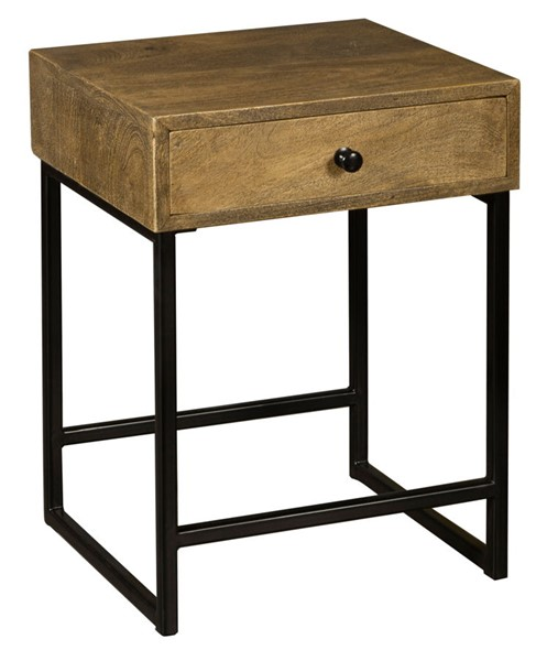 Home Meridian Black One Drawer Side Table RH-DS-D454-211
