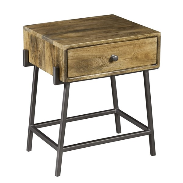 Home Meridian Brown One Drawer Rectangle Side Table RH-DS-D454-215