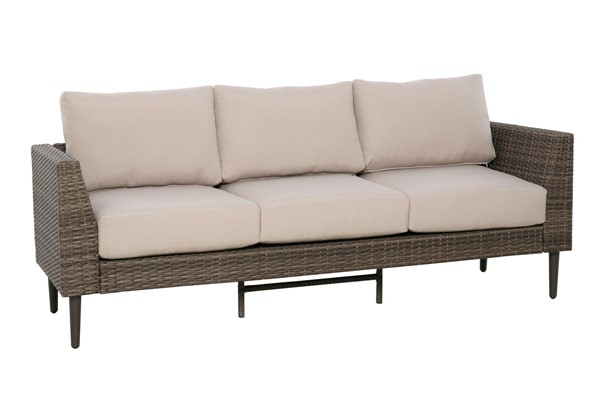 Home Meridian Brown Weave Sofa RH-DS-D472-OUT-K1