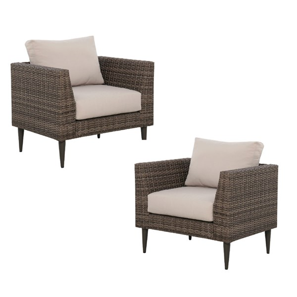 2 Home Meridian Beige Fabric Outdoor Chairs RH-DS-D472-OUT-K2