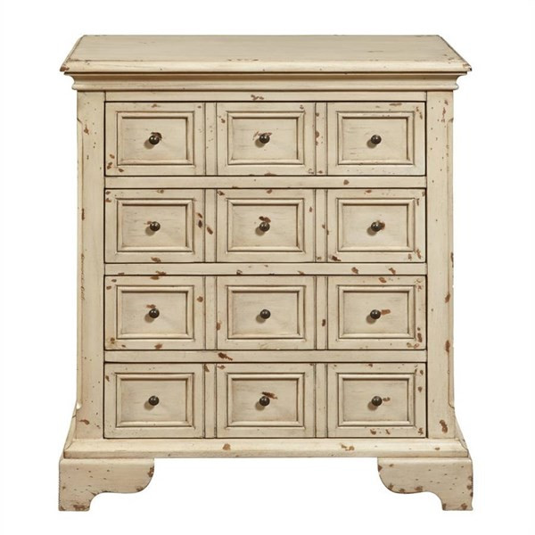 Rustic White Hardwood Distressed Drawer Chest RH-DS-P017031