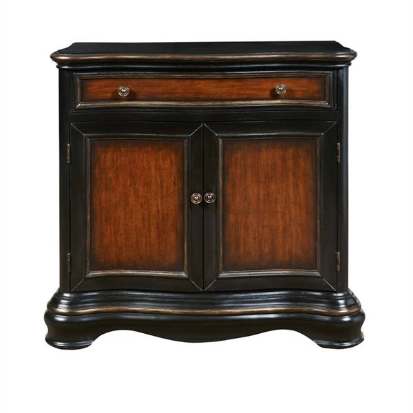 Modern Black Hardwood Two Tone Hall Chest RH-DS-P017035