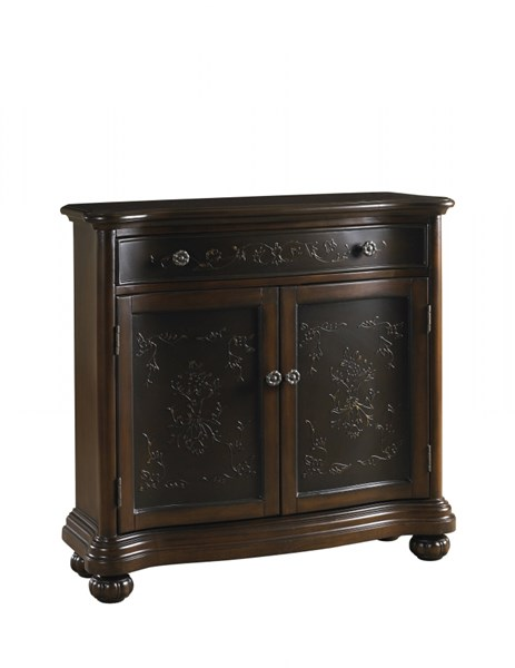 Traditional Brown Hardwood Faux Metal Inlay Hall Chest RH-DS-P017065