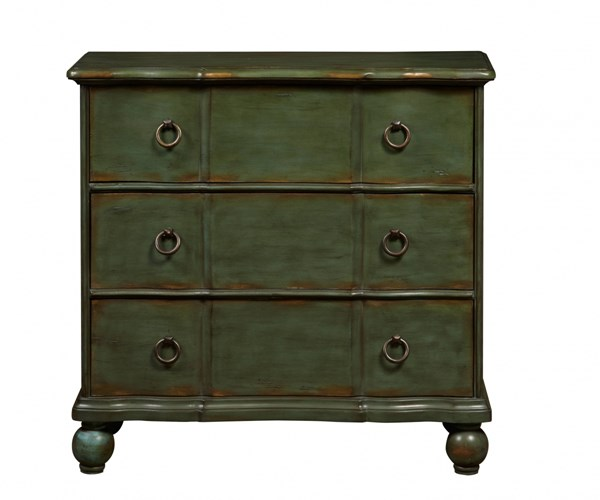 Classic Green Hardwood Distressed Drawer Chest RH-DS-P017068