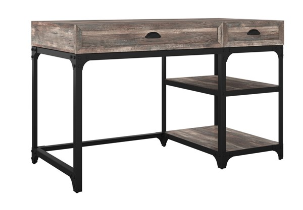 HMidea Gray Weathered Oak Desk with Storage RH-J004-914-010