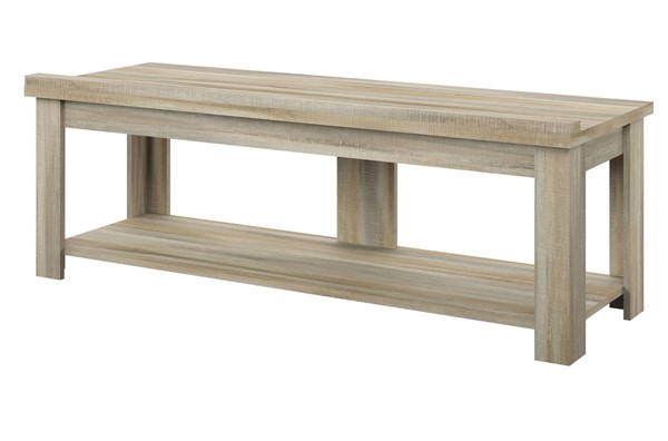 HMidea Natural Oak 60 Inch Transitional TV Stand RH-J008-160-002